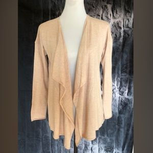 H&M beige drape cardigan size small new condition